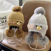 婴儿帽子毛线帽儿童冬天
