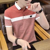 夏季男士短袖t恤翻领POLO衫韩版潮流男装夏装青年衬衫领半袖衣服