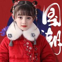 女童唐装棉袄中国风棉衣中小童拜年服宝宝中长款