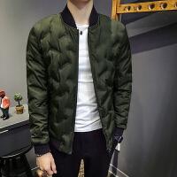 新款冬季短款小棉袄男韩版修身帅气个性棉衣男士潮流薄款外套