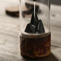 新品创意家用陶瓷倒流香炉摆件禅意香道茶道檀香个性观赏小香薰炉