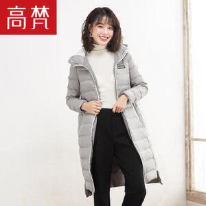【618大促-每满100减50】高梵 新款冬季羽绒服女中长款韩版 时尚显瘦连帽外套潮正品
