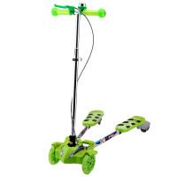 捷豹(L-pard)蛙式车可折叠滑板车四轮闪光带手脚双刹剪刀车扭扭车儿童蛙式车