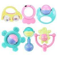 【支持礼品卡】婴儿玩具早教益智0-1岁宝宝男女孩手摇铃套装 g5q