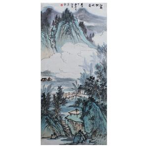刘峰《江南烟雨图》当代水墨画家