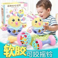 男孩婴儿玩具软胶手摇铃0-3-6-12个月女宝宝男孩手抓女孩新生儿7早教 育儿
