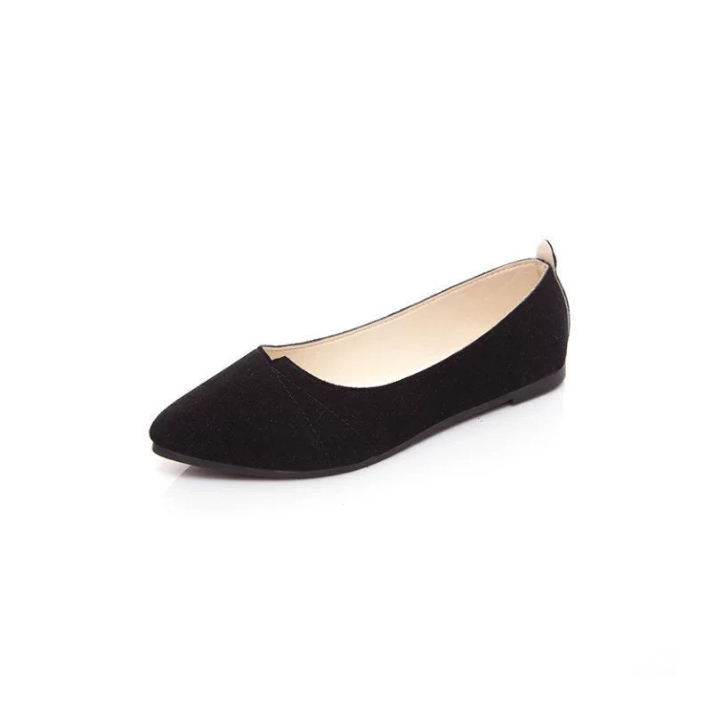 ELEISE美国艾蕾莎新品156-006韩版磨砂绒面平跟女士单鞋