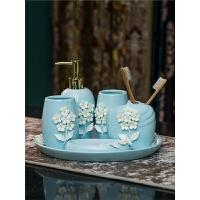【支持礼品卡】欧式陶瓷卫浴五件套创意漱口杯六件套浴室牙刷杯套卫生间洗漱套装q2x