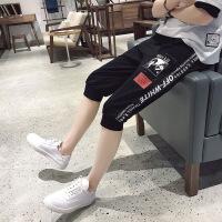 2018夏季男士休闲裤短裤运动裤七分裤中裤潮流韩版修身青少年
