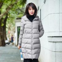 高梵2017新款时尚连帽羽绒服女中长款 冬季韩版休闲修身保暖外套