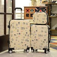 七夕礼物韩版行李箱万向轮旅行箱女拉杆箱16寸20寸小清新密码箱皮箱子