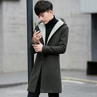 秋冬装立领毛呢大衣男修身呢子外套短款加厚毛呢风衣韩版妮子青年