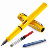 LAMY/凌美safari狩猎者亮黄EF钢笔/墨水笔  秘密花园 为年轻人设计、特殊、有个性的笔款,充分展现出年轻人的勇气及活力,采用ABS笔身、色彩丰富,颜色亮丽,可以作为书写工具,同样是很好的装饰品