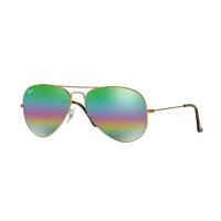 【网易考拉】Ray・Ban 雷朋 太阳眼镜男女款个性时尚前卫蛤蟆镜彩虹反光镜面0RB3025 58mm