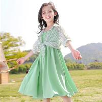 女童夏装女大童吊带裙儿童休闲中童连衣裙