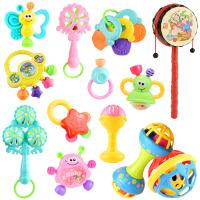 婴幼儿摇铃0-1岁婴儿玩具3-6个月女宝宝小孩到两2三4男5五7六 9件套+拨浪鼓+ 球+哑铃+牙胶