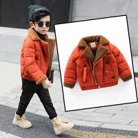 儿童冬季2018新款韩版中大童棉衣外套绒厚款棉袄男孩