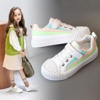 女童小白鞋2020年春季新款百搭春秋款板鞋