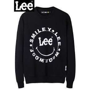 Lee男装 2018新品商场同款Smiley黑色套头卫衣L300512GZK11 L300512GZ6ZQ