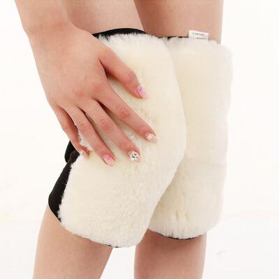 羊毛护膝保暖老寒腿秋冬季加厚羊绒防寒男女士老人护膝盖保暖骑车