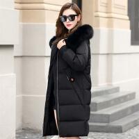 时尚棉衣女冬季新款加厚毛领外套中长款韩版防寒棉袄