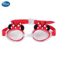 迪士尼儿童泳镜耳塞套装 米妮高清防雾防水装备女童宝宝游泳眼镜