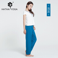 春夏瑜伽服套装女 运动舞蹈健身服 宽松瑜珈灯笼裤绑带