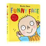看看有趣的表情包 英文原版进口 Funny Face 低幼儿早教认知纸板书 少儿童英英语启蒙亲子互动绘本