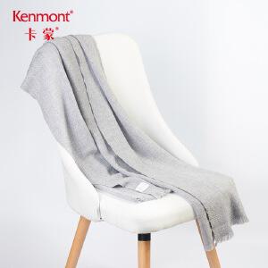 卡蒙纯色羊绒羊毛混纺围巾加厚女百搭秋冬季双面长款披肩围巾两用1850