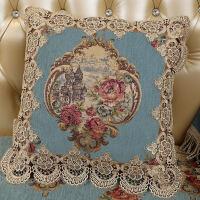 沙发抱枕靠垫客厅椅子靠垫布艺欧式方形蕾丝含芯抱枕家用