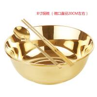 铜碗铜勺铜筷子 铜碗纯铜家用铜筷子铜勺子铜餐具三件套纯铜加厚餐具套装