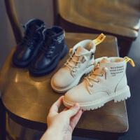 儿童靴子秋冬季英伦风二棉中大童马丁靴