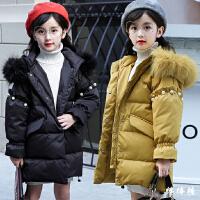 女童冬装棉衣新款韩版中大儿童加厚洋气时尚毛领公主外套