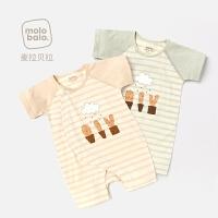 婴儿连体衣夏季半袖哈衣爬服睡衣宝宝短袖衣服