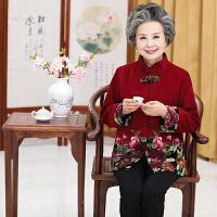 中老年人女装秋毛呢外套60-70-80岁妈妈装奶奶装老人衣服太太唐装