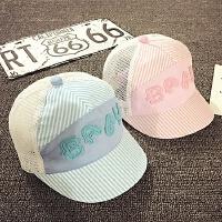 宝宝帽子婴儿帽子0-3-6-个月夏天网帽薄款鸭舌帽男女童遮阳帽潮