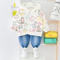 男宝宝卫衣婴儿衣服1-3周岁春秋两件套