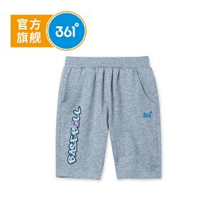 【下单立减2折价:27.8】361度 男童针织五分裤 夏季新款N51822522