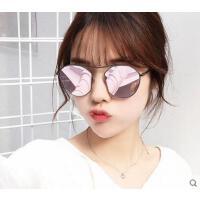 男女旅游遮阳镜潮眼镜时尚小脸圆形墨镜 韩版个性户外太阳镜切边镜框