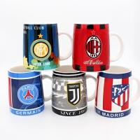 足球迷用品创意皇马巴萨AC米兰国米尤文陶瓷马克水杯子