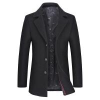 男士风衣秋冬季短款中青年韩版修身毛呢呢子大衣男装帅气妮子外套