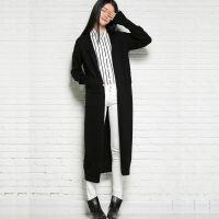 秋冬羊绒开衫女长款大衣时尚针织衫简约百搭外套风衣羊绒衫性感
