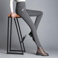加绒加厚外穿打底裤女黑色大码女裤高腰小脚铅笔裤保暖冬季长裤子 3