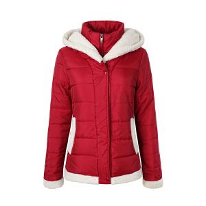 沃特voit运动棉衣秋冬季加厚棉服女运动休闲保暖防风棉衣运动外套