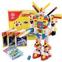 品果积木儿童6面拼插益智玩具立体百变塑料拼插积木3岁以上玩具