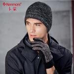 男士手套冬季骑车五指加厚加绒麂皮手套绒毛防冻防寒户外针织手套2817