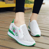户外镂空小白鞋内增高女鞋韩版百搭休闲运动鞋透气单鞋