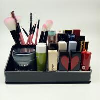 口红盒架桌面透明亚克力化妆品口红收纳盒指甲油唇膏收纳架整理盒 黑色 黑色