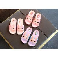 女童拖鞋夏季儿童室内防滑软底浴室可爱一字拖小公 韩版小孩凉拖