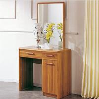 尚满 浅胡桃实木系列卧室家具梳妆台 化妆镜 储物化妆台 现代中式实木家具
